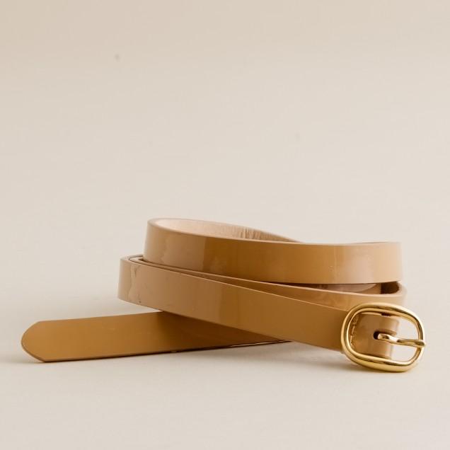 Patent oval-buckle belt