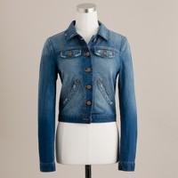 Cropped vintage denim jacket