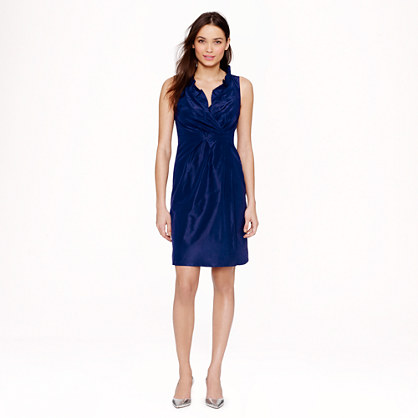 Petite Blakely dress in silk taffeta
