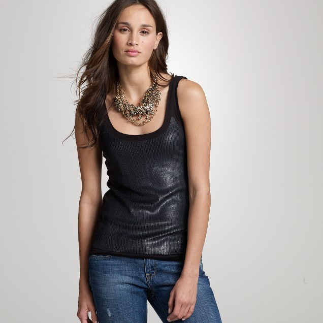 Sequin slouchy tank