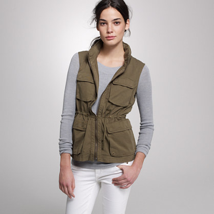 Twill utility vest