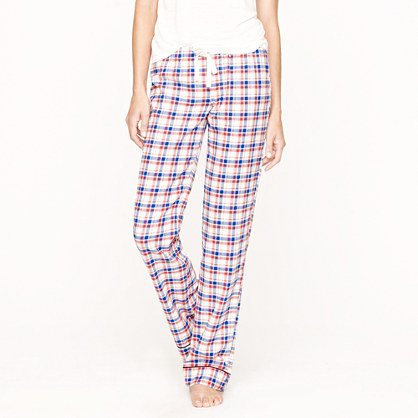 Flannel sleep pant in stocking plaid