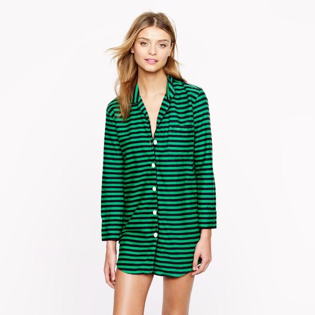 Nightshirt in flannel stripe