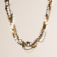 Crystal-and-pearl pastiche necklace