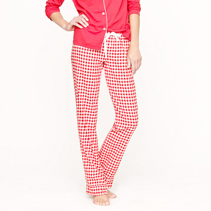 Flannel sleep pant in gingham