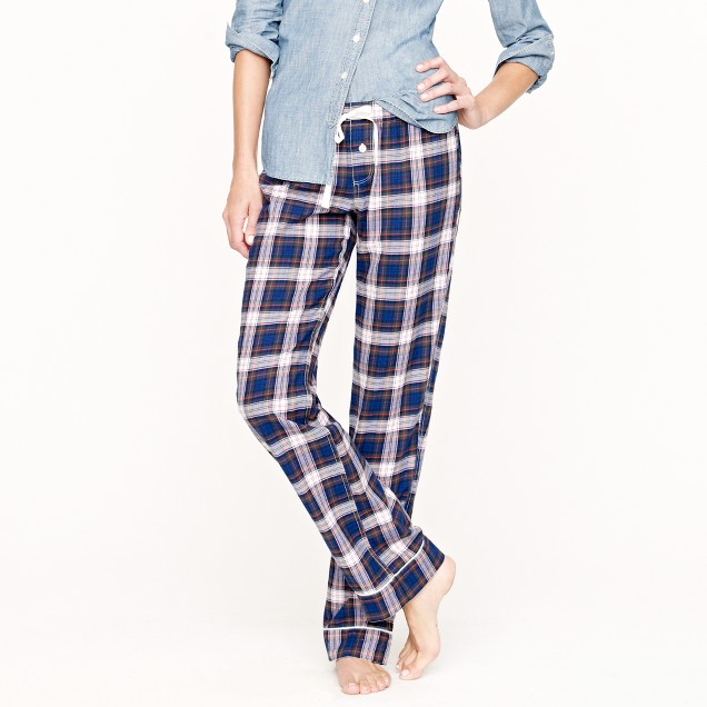 Tall flannel sleep pant in plaid