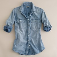 Faded chambray shirt