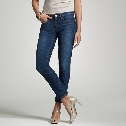 Ankle stretch toothpick jean in amore wash