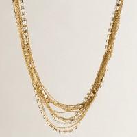 Glimmergold crystal necklace