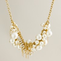 Pearl-and-crystal avalanche necklace