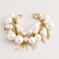 Fringe-and-cluster pearl bracelet