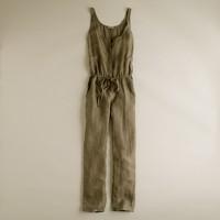 Silk-linen jumpsuit