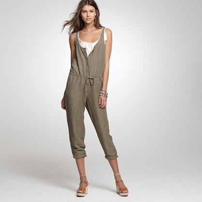 Silk-linen jumpsuit