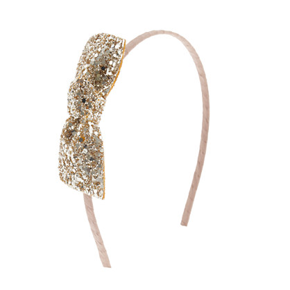 Girls' glitter bow headband