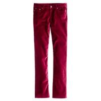 Matchstick velvet jean