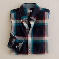 Button-down shirt in plantation madras