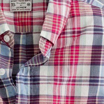 Button down shirt in consulate madras madras shirts j crew for Mens madras shirt sale
