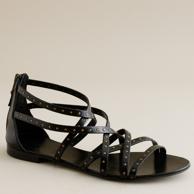 Reese studded back-zip gladiator sandals