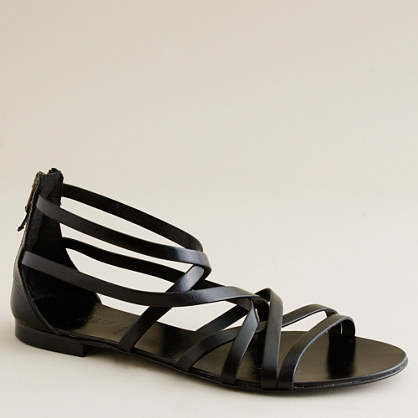 Reese back-zip gladiator sandals