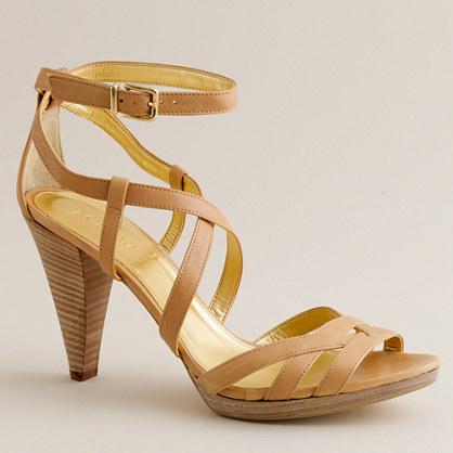 Candace leather platform heels