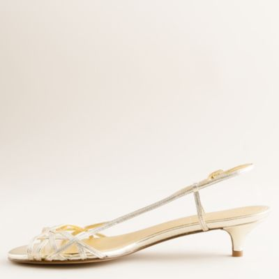 Jillian strappy kitten heels : | J.Crew