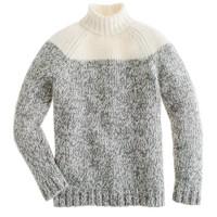Colorblock wool turtleneck sweater