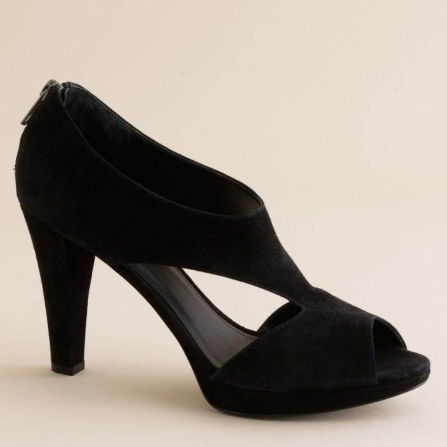 Alecia suede platform peep toes