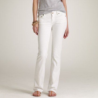 Bootcut jean in white denim