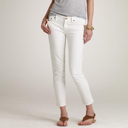 White Denim Cropped Jeans Ye Jean