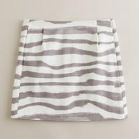 Vintage zebra-stripe mini