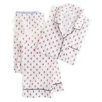 Pajama set in fleur de lis