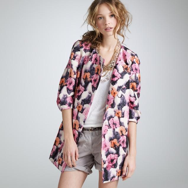 Watercolor potpourri swing coat