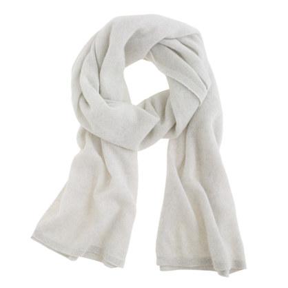Wide cashmere wrap