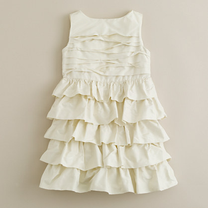 Girls' taffeta cupcake dress
