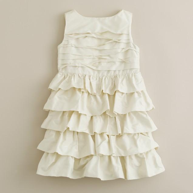 Girls' taffeta cupcake dress