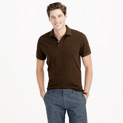 Tall textured polo shirt