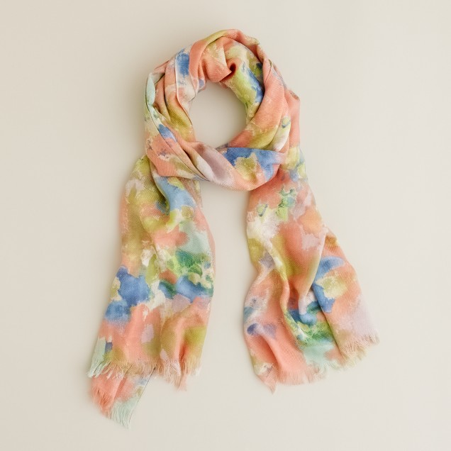Soft washed wool scarf