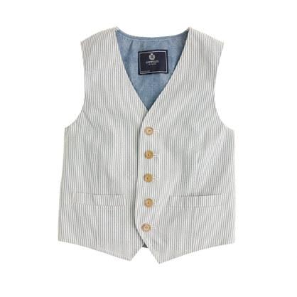 Boys' Ludlow vest in seersucker