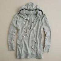 Heathered microrib jaspé hoodie