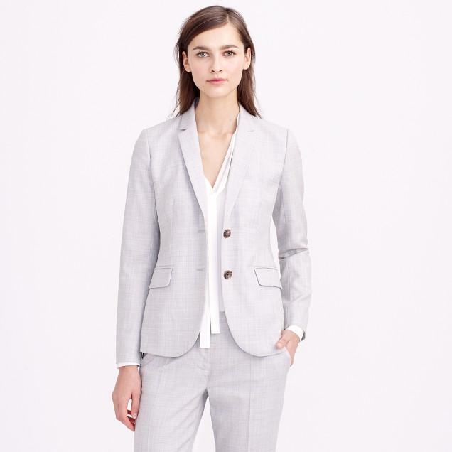Petite 1035 two-button jacket in Super 120s wool