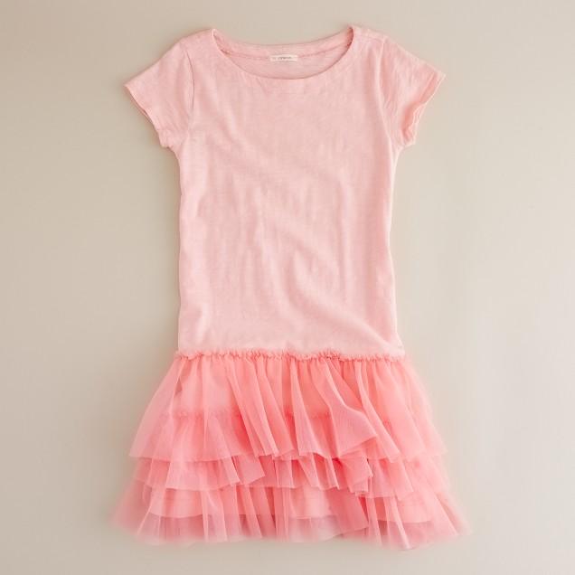 Girls' Cotton tiptoe dress