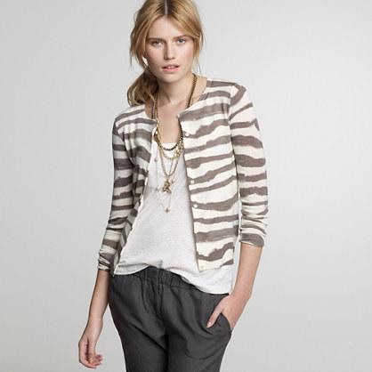 Vintage zebra-stripe cardigan