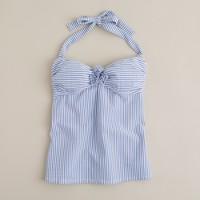 Seersucker bandeau swing top