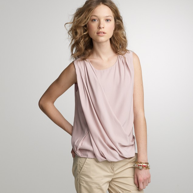 Laporte drape blouse