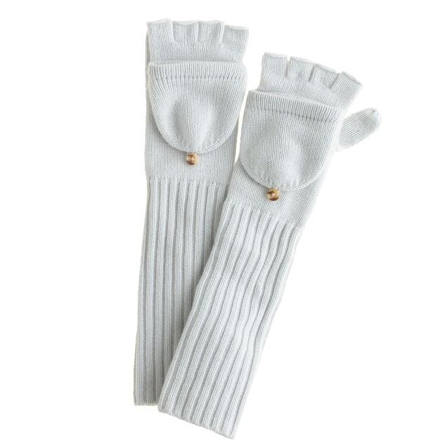 cashmere long glittens