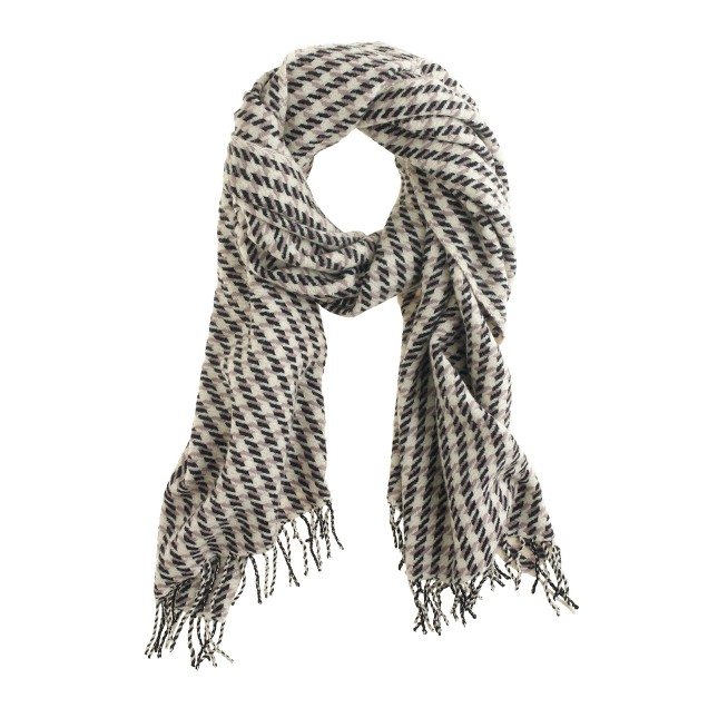 wool houndstooth scarf j crew. Black Bedroom Furniture Sets. Home Design Ideas