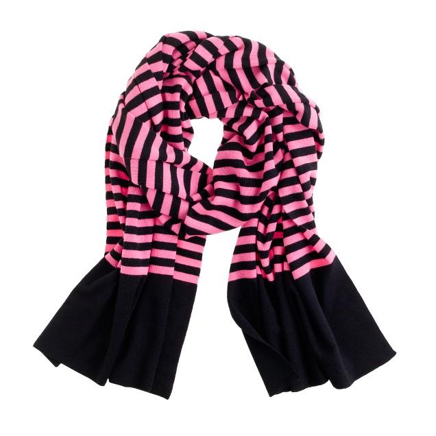 Stripe merino scarf