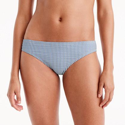 Seersucker bikini bottom