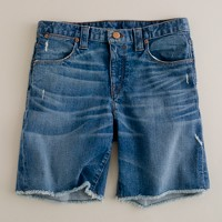 Denim cut-off short