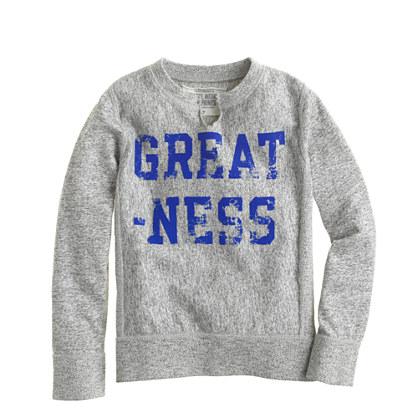 Boys' greatness sweatshirt